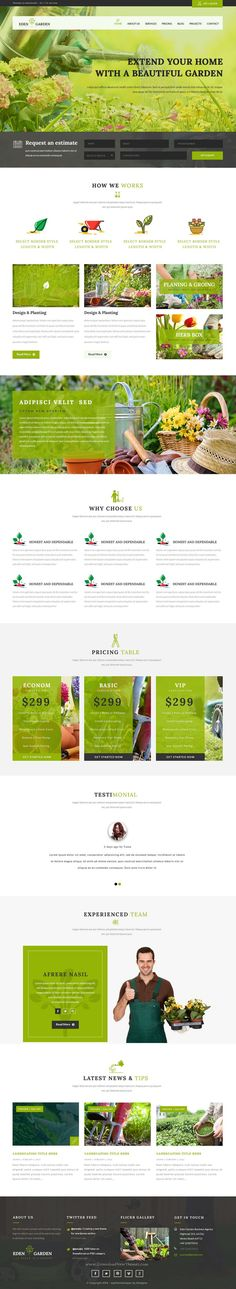 Eden Garden is clean and multipurpose business PSD #template for lawn services, #gardening, florists, ecology and landscape business #website. Download Now!