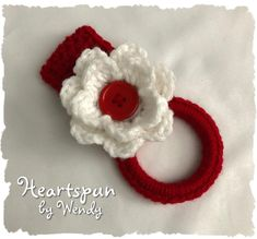 Items similar to Towel Holders Kitchen Towel Toppers Handmade Crochet Towel Holders on Etsy Gadget, Crochet Dish Towels, Red Towels, Towel Rings, Yarn Colors, Colorful Pictures, Free Crochet, Crochet Patterns, Etsy