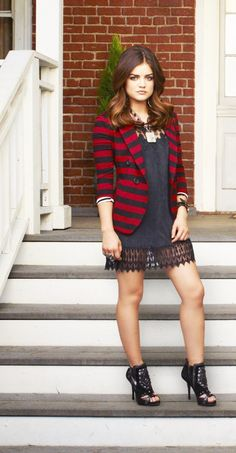 Aria Montgomery played by Lucy Hale