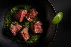 carne asada con salsa verde