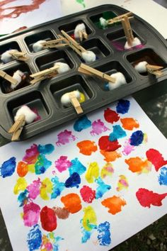 Remember the fly swatter youbought last summer andnever got around to using? Yeah, you can make art with that. The next time your creative genius wants to get her paint on, shake things up a bit and offer a new kind of tool. We've rounded up 10 of our favorite and unusual ideas for painting without brushes: including veggies, toys and even combs. Click through the gallery to get...