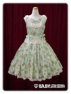 若草×オフ白レース/Bright green x Off white lace セラフィージャンパースカート/Seraffi jumper skirt Baby the Stars Shine Bright BabySSB BtSSB BSSB