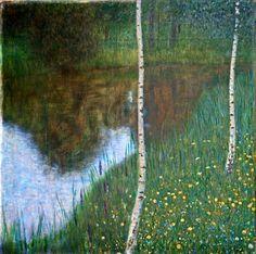 Lakeside avec Bouleaux, 1901 de Gustav Klimt (1862-1918, Austria)