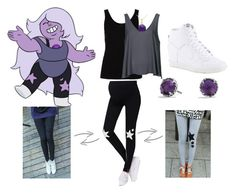 """Amethyst: Steven Universe"" by katewithpaint ❤ liked on Polyvore featuring Topshop, Miadora, Ando Store, David Yurman and NIKE"