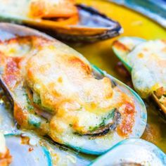Baked Mussels In Spicy Garlic Butter Recipe from Grandmother's Kitchen