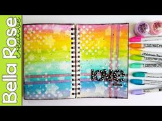 Magical Distress Crayons Technique for Beginners! + Perfect Pearls - Mixed Media Art Journal - YouTube
