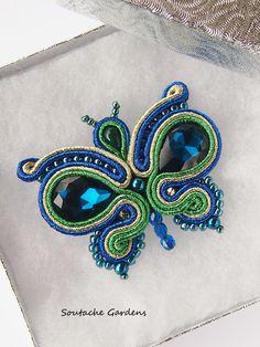 Butterfly - soutache brooch