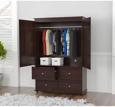 Attrayant Contemporary Armoire Cabinet Drawer Storage Modern Finish Audio Video  Chrome #InvalAmericaLLC #ContemporaryModern #Cabinet