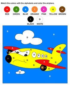 Color By Letter Worksheets For Kids