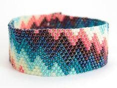 PARTY CAKE Rainbow Peyote Bracelet  Colorful Seed by LunamagicK