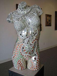 Mannequin mirrored mosaic. #DIY
