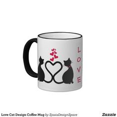 Love Cat Design Coffee Mug