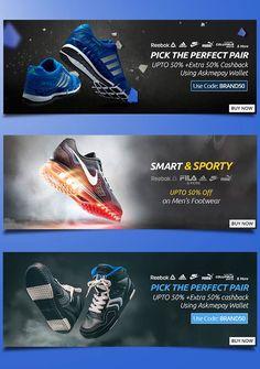 Shoes Banner Branding on Behance