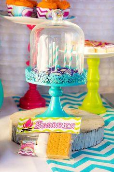 Glamping Party via Kara's Party Ideas Kara'sPartyIdeas.com #Camping #Sleepover #Party #Ideas #Supplies (10)