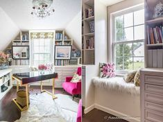 10 små hjemmebiblioteker du vil bli forelsket i - Fashion Blog Small Home Libraries, A Shelf, Reading Room, Blank Walls, Nook, Floating Shelves, Home Office, Books To Read, Bookcase