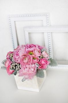 The Perfect Palette: {Think Pink}: A Pretty Palette of Pink, Gray + White