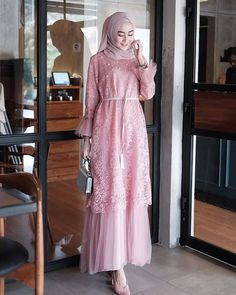 Product Name: Humaira dress. Dress Brukat, Hijab Dress Party, Kebaya Dress, Dress Pesta, The Dress, Kebaya Hijab, Muslim Fashion, Modest Fashion, Hijab Fashion