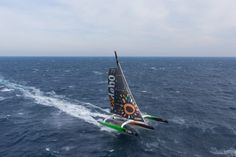 Thomas Coville breaks the solo round the world record on Sodebo Ultim