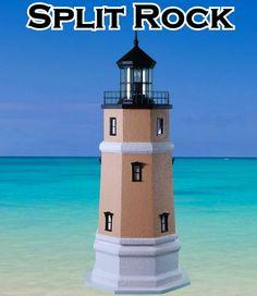 Split Rock Deluxe Stucco Yard and Garden Lighthouses