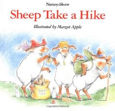 Sheep Take a Hike by Nancy E. Shaw http://www.amazon.com/dp/0395816580/ref=cm_sw_r_pi_dp_VRmAwb1F5QA0J