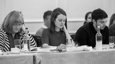 Downton Abbey Cast Gathers for Season 6 Read Through | Masterpiece | PBS | Lesley Nicol (Mrs Patmore), Sophie McShera (Daisy) and Michael Fox (Andy