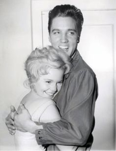 """Elvis & Tuesday Weld """"Wild in the Country"""" candid - Yes, I would be smiling, too!"""
