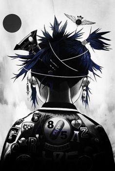 Tank Girl Comic, Jamie Hewlett, Clint Eastwood, Powerpuff Girls, Noodle, Memes, Revolution, Musicians, Anime Art