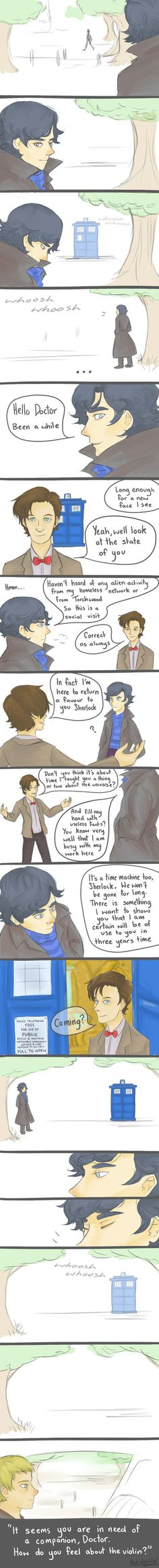 These fan-made Wholock things are awesome!  Makes me wish that this would actually happen. :D