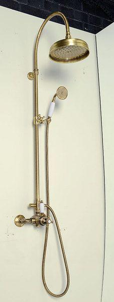 SAPHO REITANO ANTEA zuhanyoszlop termosztatikus csapteleppel váltóval fej és kézizuhannyal 1100-1400 mm bronz - SET046 | Akciók