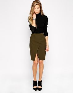 Image 1 ofASOS Pencil Skirt with Wrap