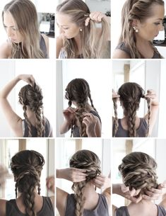 flette, how to, easy updo, www.haarskaperfolk.no