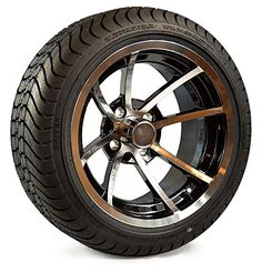 c7386c0a5a7 Golf Carts Ideas   14 Wheel Assembly Street Radial Tire with Machined Black  Rim Set of 4     You can find more details by visiting the image link.