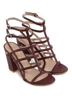 8c6079ffeb8 Buy ZALORA Gladiator Heel With Double Ankle Strap