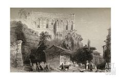 Palace of Belisarius, Turkey, Istanbul Giclee Print by William Henry Bartlett at Art.com