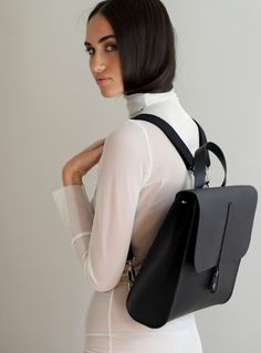 Young British Designers - Caity Rucksack in Black by Danielle Foster…