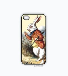 iPhone 5 Case, iPhone 5s Case - Alice in Wonderland Rabbit