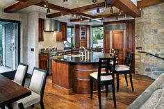 The Heart of Telluride penthouse kitchen.  Beautiful and functional.  www.heartoftelluride.com