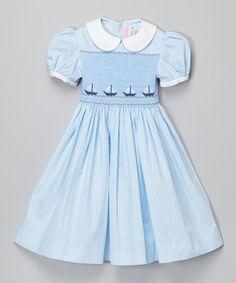 Love this Blue Gingham Dress - Infant, Toddler & Girls on #zulily! #zulilyfinds