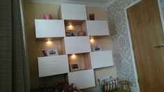 Ikea Besta units with spotlighting! Very clever hubby's handiwork, making my idea's into reality!