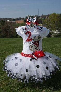 101 Dalmatians Birthday tutu-- Halloween tutu -- Dress up tutu (your choice of Number) via Etsy