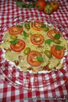 Receita de Pizza de Tapioca Marguerita