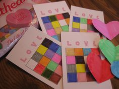 Kids' Party Game on a Shoestring: Color Bingo
