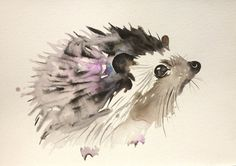 Animal painting-watercolor paintinganimal artwatercolor por Kribro