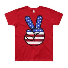 American Peace -Youth Short Sleeve T-Shirt #SummerShirts #ManTshirts #kids #spring #tshirts #tshirt #YouthClothes #KidsClothing #YouthShirts #KidsClothes Hipster Toddler, Hipster Babies, Cute Baby Gifts, Baby Shower Gifts For Boys, Valentines Outfits, Valentines Day Shirts, Baby Shirts, Shirts For Girls, Toddler Football