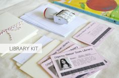 Nostalgic Library Kit (link to template and another free template download at link)
