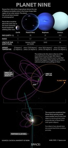 Researchers say an anomaly in the orbits of distant Kuiper Belt objects points t… – Science, Physics and Astronomy News Cosmos, Solar System Planets, Our Solar System, Planeta Nibiru, Mass Of Earth, Rogue Planet, Planets And Moons, Space Facts, Science Facts