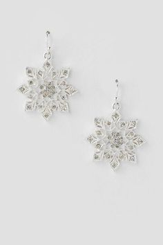 Large Crystal Snowflake Drop Earrings from Francesca s - Perfect for the  holidays! Crystal Snowflakes d85401c19d73