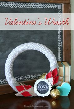 Sweet and Simple Valentine's Wreath