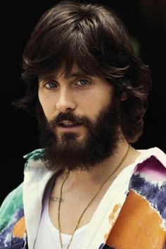My favorite picture of Jared Leto.... I completely LOVE him with his beard...