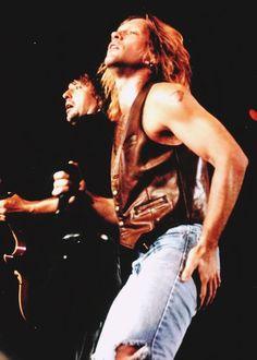 Richie Sambora and Jon Bon Jovi mid-90's #bonjovi